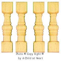 Disc. $1 Off - Traditional Victorian Spindles 12/Pk - Product Image