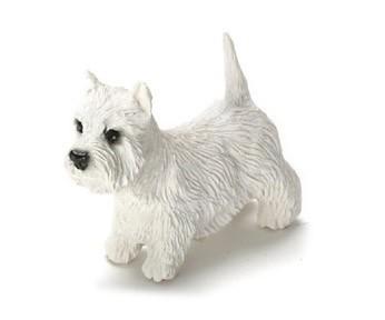 Dolls House West Highland Terrier Sitting Pet Westie Dog Miniature Accessory