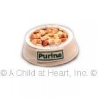 (§) Sale .30¢ Off - Dollhouse Filled Pet Food Bowls - Product Image