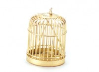 Dollhouse Brass Bird Cage - Product Image