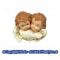 § Disc $1 Off - Dollhouse Cherub Heads Plaque - Product Image