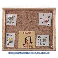 Oak Dollhouse Memo Board - Product Image