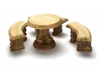 Dollhousse Garden Table with 3 Benches - Product Image