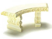 2 Dollhouse Curved Garden Benches - Product Image