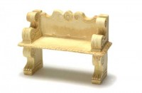 2 Dollhouse Victorian Garden Benches - Product Image