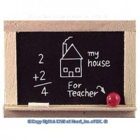 Oak Dollhouse Blackboard - Product Image