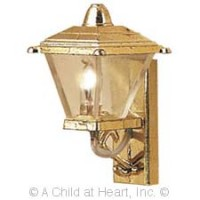 Dollhouse Gold Coach Light - Product Image
