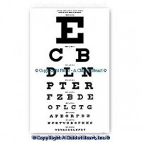 § Sale .50¢ Off - Dollhouse Eye Chart - Product Image