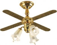 Ceiling Fan - 3 Tulip Shades - Product Image