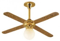 Ceiling Fan - Removable Globe (12 Volt) - Product Image