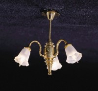 3 Down-Arm Tulip Shade Chandelier - Product Image