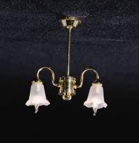 2 Down-Arm Tulip Shade Chandelier - Product Image