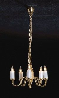 Dollhouse 5 Up-Arm Colonial Chandelier - Product Image