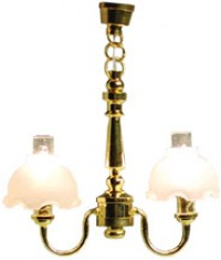 Dollhouse 2 Up-Arm Bell Shade Chandelier - Product Image