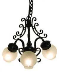 Dollhouse 3 Arm Black Chandlier - Product Image