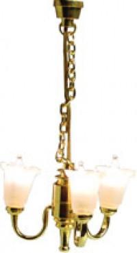 3 Arm Tulip Chandelier - Product Image