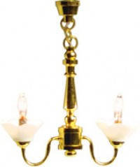 Double-Scallop Chandelier - Product Image