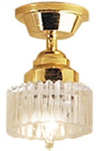Ceiling Fixture with Scalloped Shade - Product Image