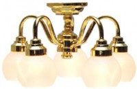 5 Globe Ceiling Chandelier - Product Image