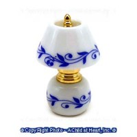 Dollhouse Non Working Blue Leaves Lamp - Product Image