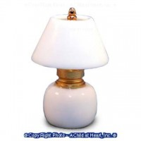 (*) Dollhouse Non Working White Table Lamp - Product Image