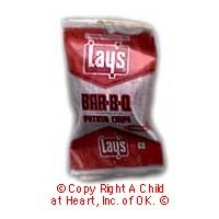 § Disc .60¢ Off - Lays BBQ Potato Chips (Vintage) - Product Image