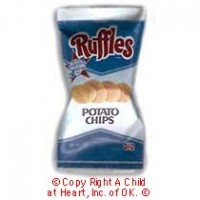 § Disc .60¢ Off - Dollhouse Ruffles Potato Chips (Vintage) - Product Image