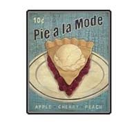 Dollhouse Pie a la Mode Sign - Product Image