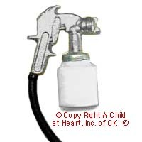 (**) Unfinished Dollhouse Paint Spray Gun - Product Image