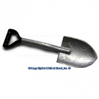 (**) Unfinished Small Garden Spade - Product Image