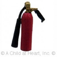 (*) Dollhouse Unfinished Fire Extinguisher - Product Image