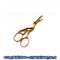 (*) Dollhouse Small Stork Scissors- Choice of Finish - - Product Image
