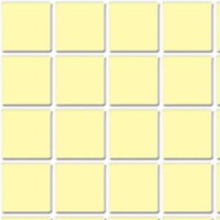 Dollhouse Tile Flooring - Yellow - Product Image