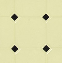 Dollhouse Diamond Tile Flooring - Black & Beige - Product Image