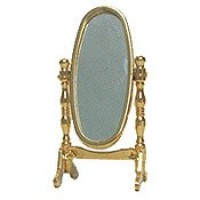 § Disc $2 Off - Brass Dollhouse Vanity Mirror - Product Image