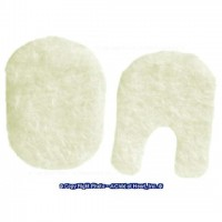 Dollhouse Fuzzy Oval Mats Set(Choice of Color) - Product Image