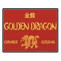 Dollhouse Golden Dragon Sign - Product Image