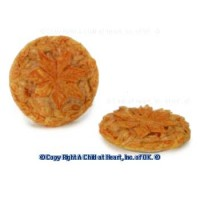 § Sale .60¢ Off - Dollhouse Apple Leaf Pie - Product Image