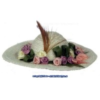 Dollhouse Large Lady's Hat- Choice of Color - - Product Image