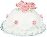Round Dome Cake w/ Pink Roses - Product Image