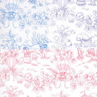 § Sale $1 Off - 2 Shts Playland Toile Wallpaper - Product Image