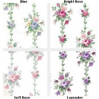 § Sale $1 Off - 2 Shts Rose Bouquet Stripes - Product Image