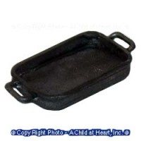 § Sale - Dollhouse Rectangular Baking Pan w/Handles - Product Image