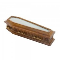 (**) Dollhouse Glass Topped Coffin  - Product Image