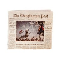 Miniature Washington Post Newspapers - Product Image