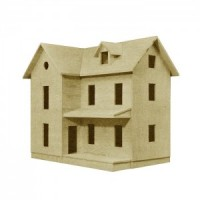 Dollhouse Farm House Shell (Kit) - Product Image