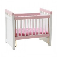Dollhouse Pink/White Crib - Product Image