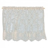 Dollhouse Lace Picture Window Curtains - Ecru - Product Image