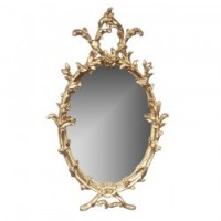 Dollhouse Ornated Oval Mirror - Product Image