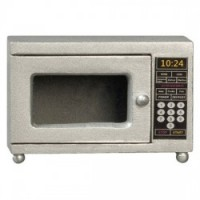 Dollhouse Silver Microwave - Product Image
